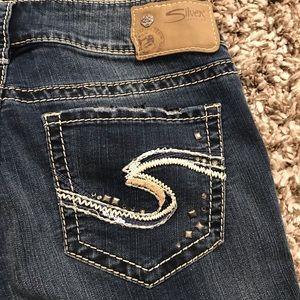 Silver Suki Super Stretch Mid Slim Bootcut Jeans